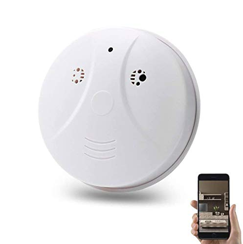 Hidden Spy Camera, WiFi 1080P Smoke Detector Nanny Spy Cam With 90° Wide View Angle and Motion Detection for Home Security & Surveillance Free Apps for iOS Android, PC and Mac