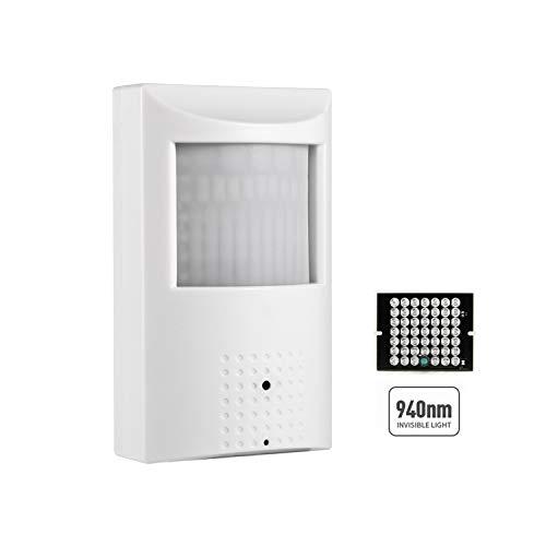 HD 3MP PIR POE IP Camera, Revotech 3.7mm Pinhole Indoor Network Security Camera ONVIF P2P CCTV Covert Surveillance with H.265 940nm Invisible IR LEDs Night Vision(IPIR-P White)