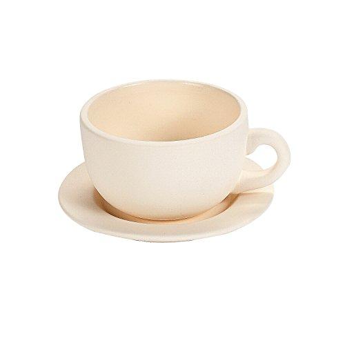 Fun Express DIY Ceramic Tea Cup Planters (Set of 6) Spring Craft Kits