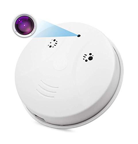 WiFi Spy Smoke Detector Camera, Spy Camera, CAMXSW HD 1080P Wireless Hidden Camera Smoke Detector Real-time Live Video Remote Monitoring Nanny Camera Motion Detection Alarm for Home Security