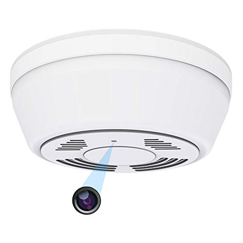 Hidden Camera Smoke Detector WiFi,Yieye Motion Activated Hidden Spy Camera with 180 Days Battery Power,Remote Internet Access,Night Vision,SD Card Slot,Bottom View Covert Camera Lens for Home Security