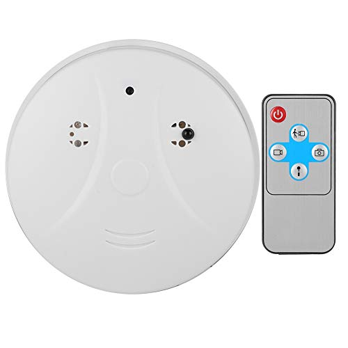 1280 X 960P Smoke Detector Camera, Remote Detector With Camera DVR, Spy Hidden Camera with Built-in Battery Great