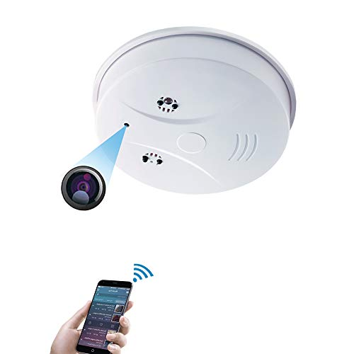 Hidden Spy Camera,UYIKOO WiFi 1080P Smoke Detector Hidden Camera with Night Vision/Loop Recording/Motion Detector for Indoor Home/Shops/Warehouse Security Camcorders with Remote Control