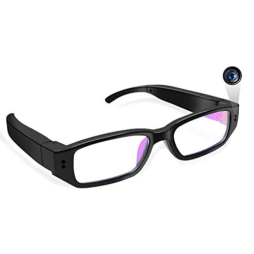 Spy Camera Glasses UYIKOO HD 1080P Portable Hidden Camera Glasses with Audio and Video Recorde Mini Eyewear DV Camcorder for Indoor/Outdoor