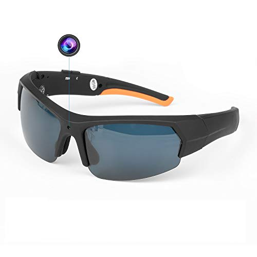 Bluetooth Camera Sunglasses Spy Camera Glasses 32GB 1080P HD Video Recorder Music Headphones Glasses for Outdoors Sports Climbing Biking Fishing
