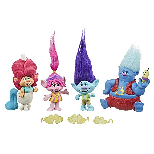 DreamWorks Trolls Lonesome Flats Tour Pack, 5 Small Doll Set Inspired by the Film Trolls World Tour, Toy for Children 4 Years and Up