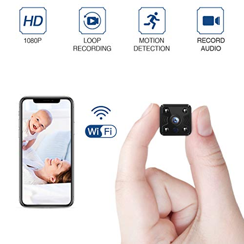 Spy Cameras,FREDI Hidden Camera 1080P,CCTV Camera,Mini Wifi Camera,Small Wireless Camera,Video Recorder,Tiny Covert Cam Security Home Camera with Night Vision/Motion Detection(UPDATED)