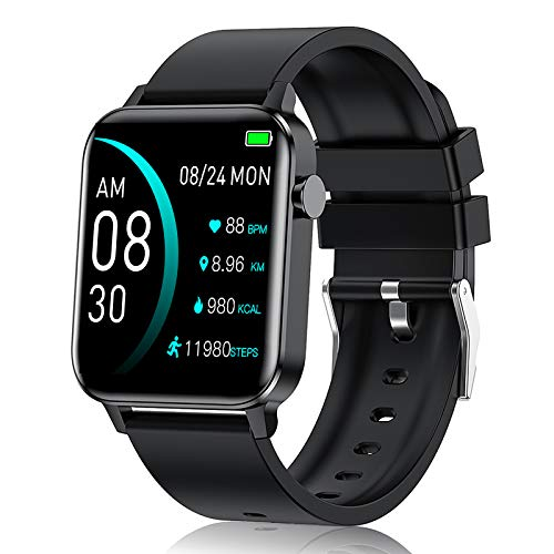 andfive Smart Watch, Fitness Tracker with 1.4' Touch Screen, Heart Rate Monitor, IP68 Waterproof Pedometer Step Counter Watch,with Sleep Monitor,Sports Smartwatch for Men Women for Android iOS