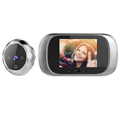 OWSOO Video Door Intercom Doorbell Peephole Door Camera 2.8 Inch LCD Screen Night Vision Photo Shoot Digital Door Monitoring for Home Security