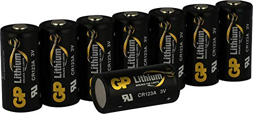 CR123A 3V Lithium Battery GP 8 Pack CR 17345 Batteries for Digital Cameras,Alarm Systems,Security Systems,Smoke Detectors,Flashlights and More