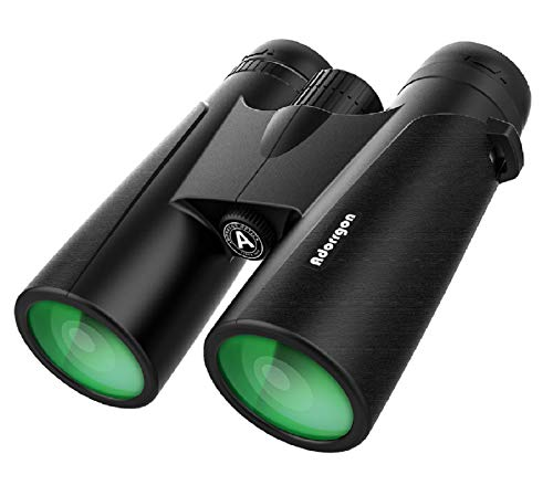 12x42 HD Binoculars for Adults with Clear Low Light Vision - Large View Eyepiece, High Power Easy Focus Binoculars - Lightweight Waterproof Binoculars for Birds Watching Hunting Travel Outdoor