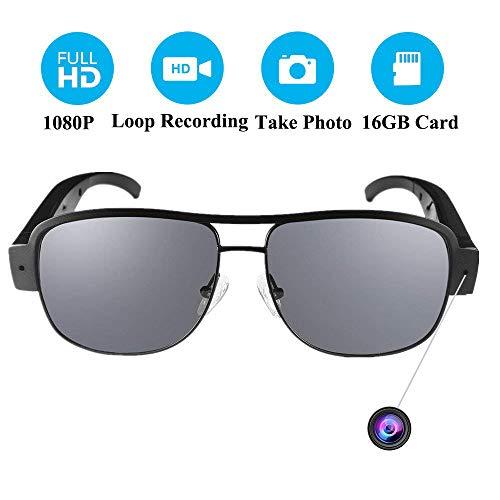 Spy Cameras Sunglasses, 16GB 1080P HD Spy Glasses with Hidden Cameras Eyewear Spy Cam Portable for Classroom Meeting Travel