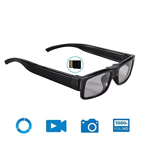 Mofek 16GB HD 1920x1080P Spy Glasses Hidden Camera Eyewear Video Glasses Recorder Mini DV Camcorder