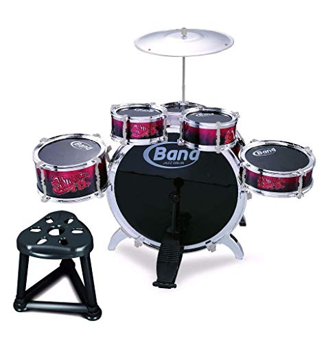 Childs Kids Drum Kit Jazz Band Sound Drums Play Set Musical Toy With Stool (Band Jazz Drum)