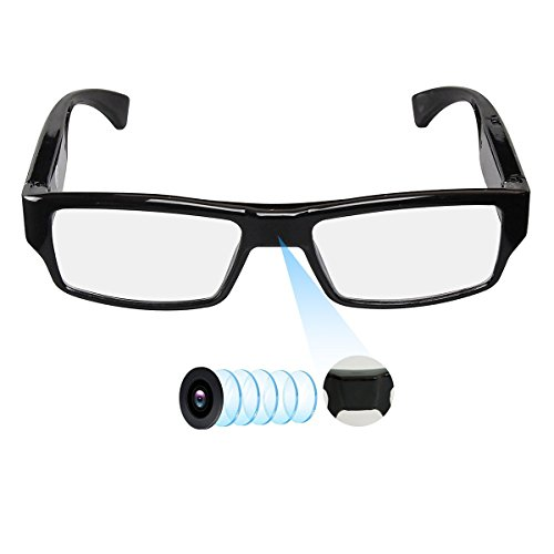 Hereta Spy Camera Glasses with Video Support Up to 32GB TF Card 1080P Video Camera Glasses Portable Video Recorder