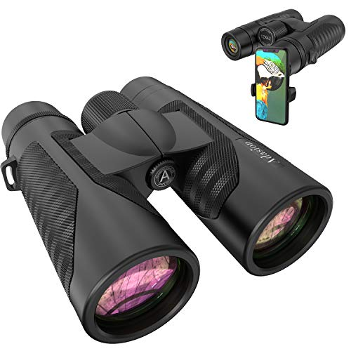 12x42 HD Binoculars for Adults with Universal Phone Adapter - High Power Binocularswith Super Bright and Large View- Lightweight Waterproof Binocularsfor Bird Watching Hunting Outdoor Sports Travel