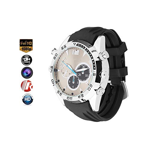 YMXLJJ Full HD 1080P Digital Watch Waterproof Recording Wrist Camera Watch Wireless Camera with Night Vision Function 32GB