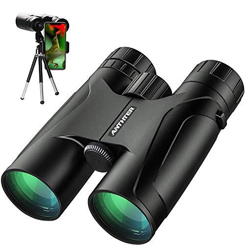 12X42 Powerful Binoculars, High Power HD Binocular for Adults with Smartphone Holder & Tripod, Waterproof Binoculars with Durable and Clear FMC BAK4 Prism Binoculars for Bird Watching, Camping, Hiking