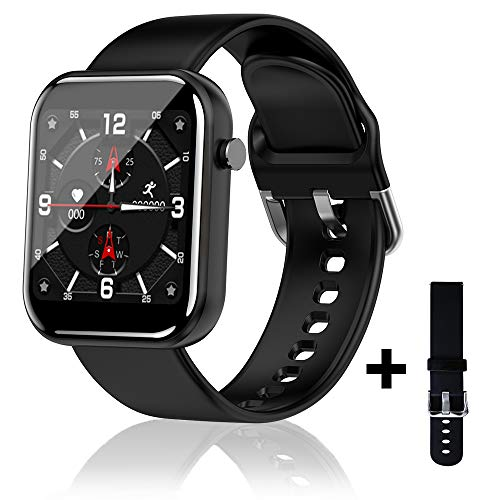 Janker Smart Watch,Fitness Tracker,Touch Screen Smartwatch for iphone Android,Waterproof Fitness Trackers With HR Monitor, Fitness Tracker Watch Pedometer Stopwatch,Buletooth Smart Watch for Men Women