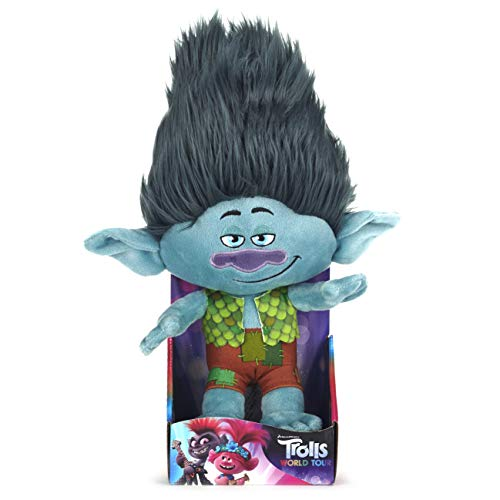 Posh Paws 37400 Trolls World Tour Branch Soft Toy 25cm (10 inches), Multi