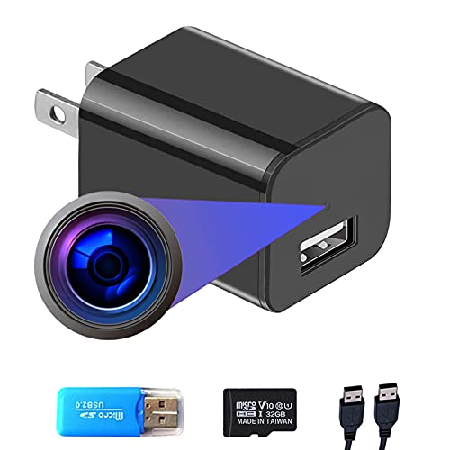 Smart Camera Charger with Motion Detection, 1080P Full HD Spy Security Camera for Home Surveillance