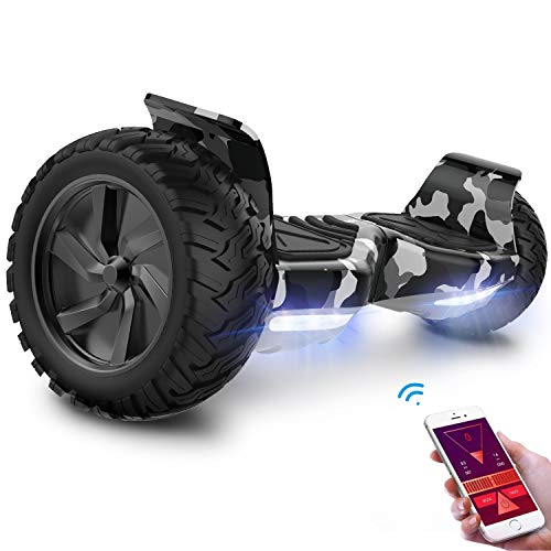 GeekMe Hoverboard Segway 8.5 inch wheels all terrain Electric Self Balancing Scooter With Powerful Motor LED Lights/Bluetooth/APP Gift for Kids and Adults