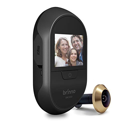 Brinno Peephole Camera Home SHC500 Security Long-Lasting Battery DIY Install LCD Screen Black - 12mm Size