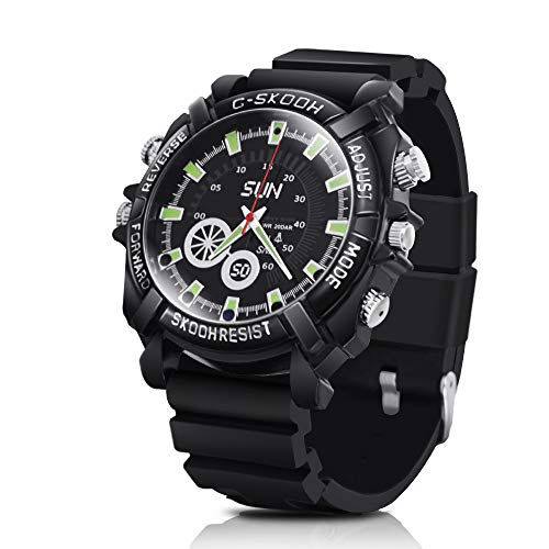 1080P HD Hidden Camera Watch - Wearable Secret Video Camcorder Support Photo Taking, 16GB Memory Built-in