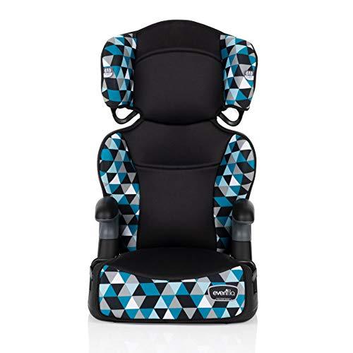 Evenflo Big Kid Highback 2-in-1 Belt-Positioning Booster Car Seat, Boston Blue