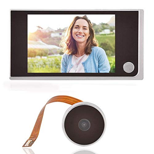 3.5 Inch LCD HD Screen Peephole Viewer, Digital Door Eye Viewer Camera 480×320P Image Resolution 120 Degree Wide Angle Home Security System