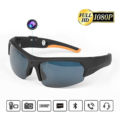 lembrd Portable Hidden Spy Camera Glasses, 32GB 1080P HD Video Recorder, Bluetooth Sunglasses With Sports Camera, Outdoor Sports Cycling Digital Glasses For Hunting, Fishing, Vacation, Driving