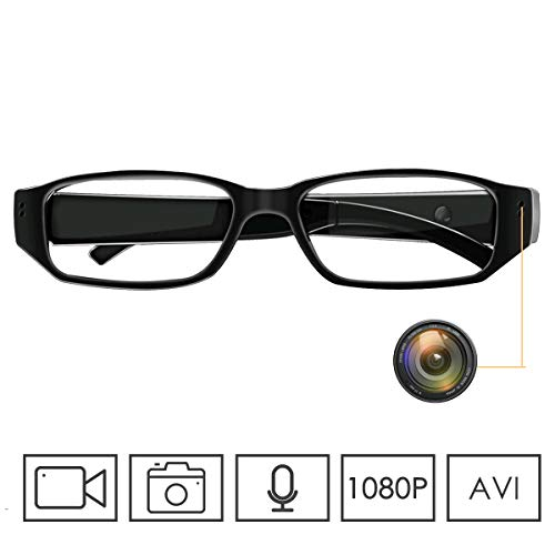 Monkaim Spy Glasses HD 1080P Camera Glasses Hidden Spy Cameras Convert Video Recorder with Photo Taking and Audio Portable Recording Glasses for Indoor/Outdoor