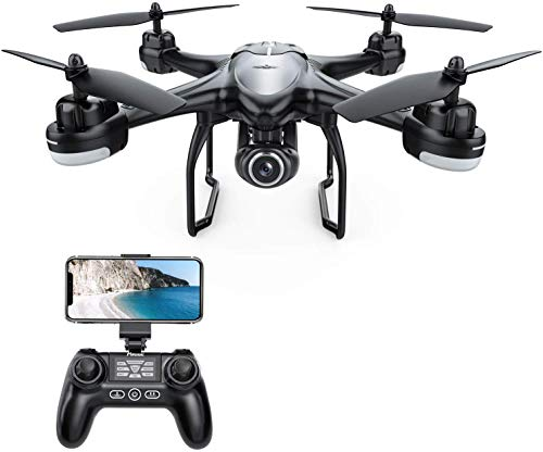 Potensic T18 GPS Drone with 1080P Camera, FPV Remote Control Quadcotper, Dual GPS Return Home, Follow Me, Adjustable Wide-Angle Camera, Altitude Hold, Long Control Range -Black