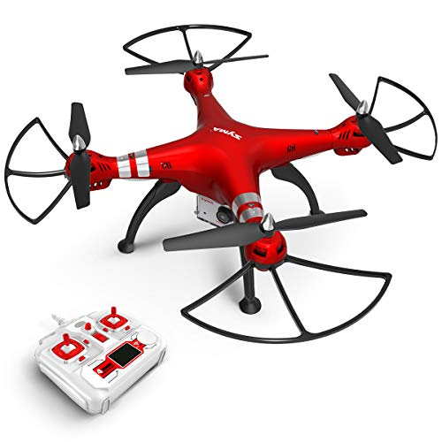 Syma RC Drone with 1080P HD Camera X8HG 2.4GHz 6-Axis Gyro Remote Control Quadcopter Headless Mode Altitude Hold LED Light Functional Drone for Beginners