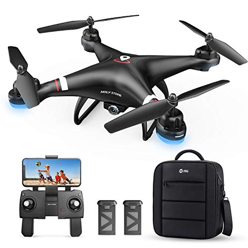 Holy Stone GPS Drone with 1080P HD Camera FPV Live Video for Adults and Kids, Quadcopter HS110G with Carrying Bag, 2 Batteries, Altitude Hold, Follow Me and Auto Return, Easy to Use for Beginner