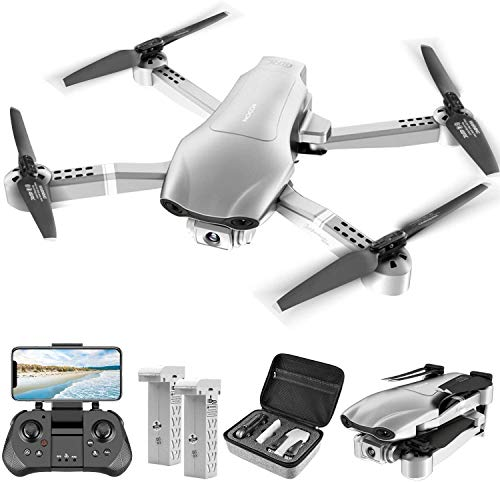 4DRC F3 GPS Drone for Adults with 4K Camera 5G FPV Live Video for Beginners, Foldable RC Quadcopter with Auto Return Home, Follow Me,Dual Cameras,Tap Fly,2 Batteries, Includes Carrying Case