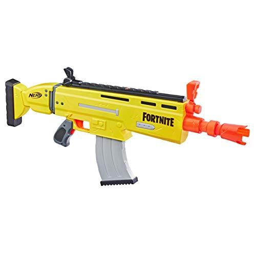 Nerf Fortnite AR-L Motorised Nerf Elite Dart Blaster, Motorised Toy Blaster, 20 Official Nerf Fortnite Elite Darts, Flip Up Sights, for Youth, Teens, Adults