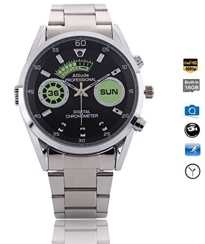 Menborn 16GB Spy Watch Camera HD 1080P Infrared Night Vision High-end Camera