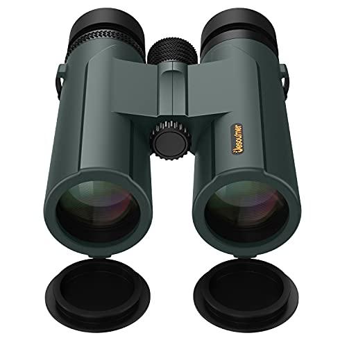 10x42 Birding Binoculars, Jesoumer Binoculars for Adults with Phone Adapter to Capture Moments, Roof Prism Binoculars for Bird Watching with BAK4 for Bright Clear View, Large Eyepiece FMC HD Binocular