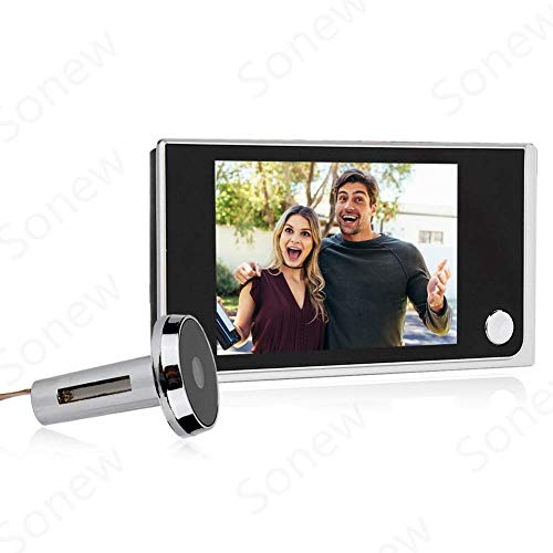 Home Video Door Eye Viewer Security Camera Visual Door Electronic Cat Eyes 3.5' Digital LCD 120 Degree Peephole Viewer Photo Visual Monitoring (#01 Door Viewer)