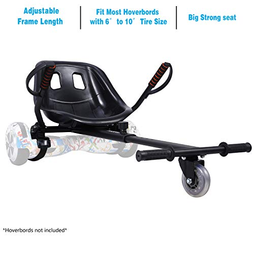 yabbay Hover Go Karts Cart,Seat Attachment Transforms your Hoverbords into Go-kart,Make driving much fun and safe