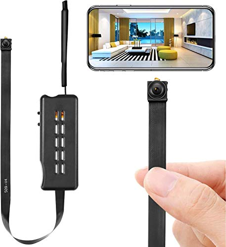 Spy Camera Mini WiFi Wireless Hidden Camera Mini Cam HD 1080P DIY Tiny Cams Small Nanny Cameras Home Security with App Motion Detection Alerts Surveillance Cameras for Indoor/Home