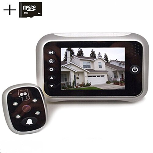 digitsea digital doorbell peephole door camera 3.5 inches TFT LCD screen Night vision wide angle/Video Record/Photo shooting