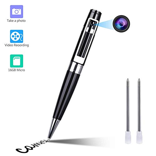 Spy Camera Pen Hidden Camera Pen HD 1080P Mini Pocket Convert Camera with 16GB SD Card Audio and Video Recorder for Business and Conference