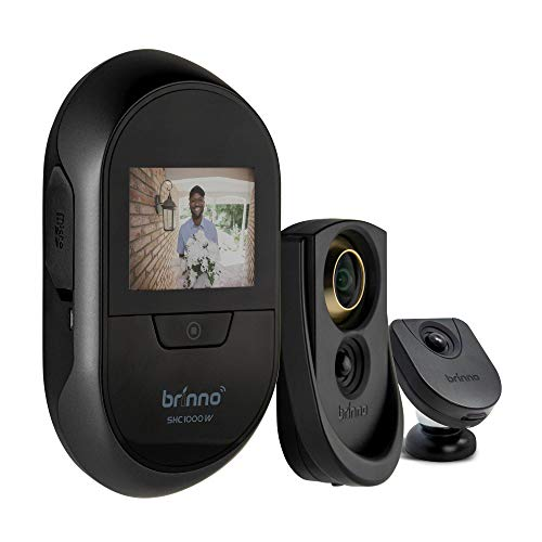 Brinno Duo SHC1000W Safe Smart Home Security Concealed Peephole Camera Remote Access DIY Install Data Privacy - Gold 12mm Size