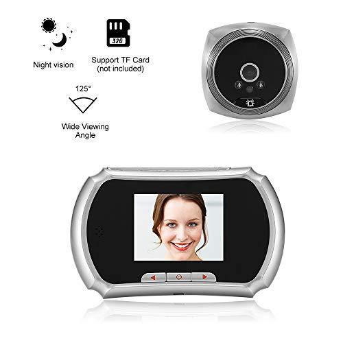 OWSOO 1.3MP Peephole Door Camera 3-Inch LCD Screen Monitor Video Door Viewer Door Eye Doorbell Photo Taking & Video Recording for Home Security