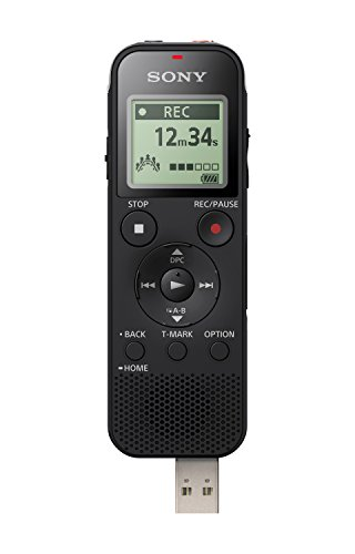 Sony ICD-PX470 Stereo Digital Voice Recorder with Built-in USB Voice Recorder, Black