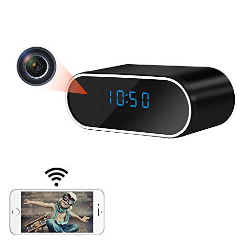 Spy Camera, LXMIMI 140° Wide Angle Small Camera WiFi, Automatic Night Vision HD 1080P Mini Camera with Motion Detection with Rechargeable Battery