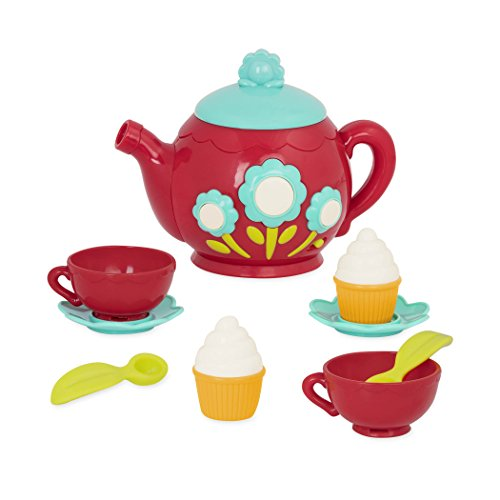 Battat – Musical Tea Playset – Kids Tea Party Set and Teapot with Sounds for Kids Age 3 years+