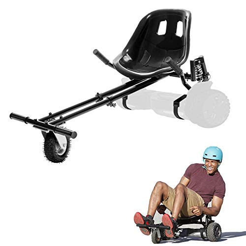 LIBRNTY Self Balance Scooter,Overboard Hover Go Karts Attachment,Kart Adjustable Comfortable Bucket Seat,Improved Design with Suspension Under Seat,Fits All Hover Board Sizes - 6.5', 8' and 10